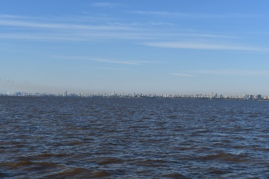 Buenos Aires in the distance