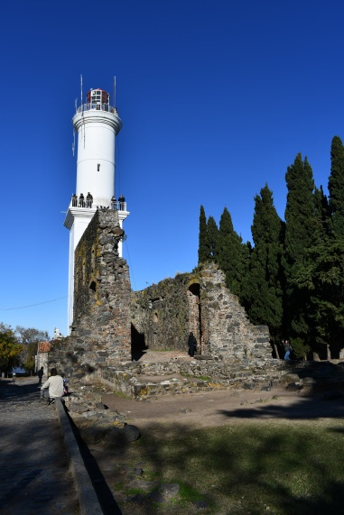 Faro - 19th century lighthouse, within 17th century ruins of Convento de San Francisco