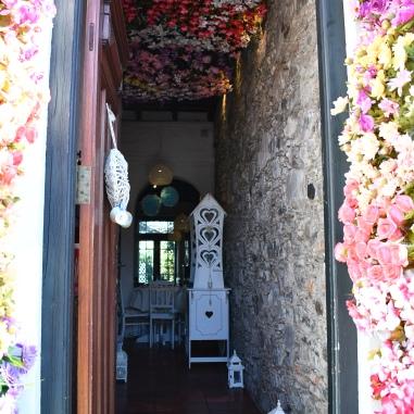 Entrance to a tea shop
