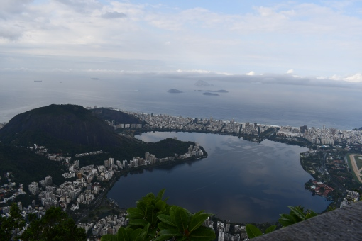 Looking out toward Ipanema Beach from Christ the Redeemer