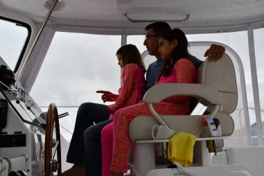 Girls learning to navigate